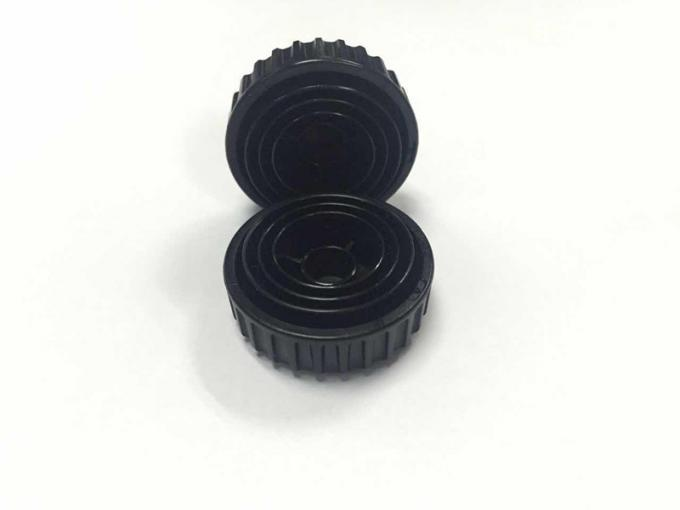Black Camera Turn-Knob Cold Runner Injection Mould , Plastic Injection Mould 196X246X246