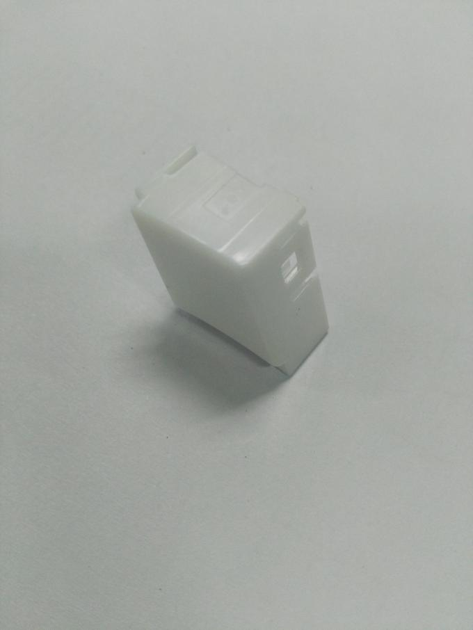White Colour Plastic Mold Part With ABS Material Made From Precise Injection Mold